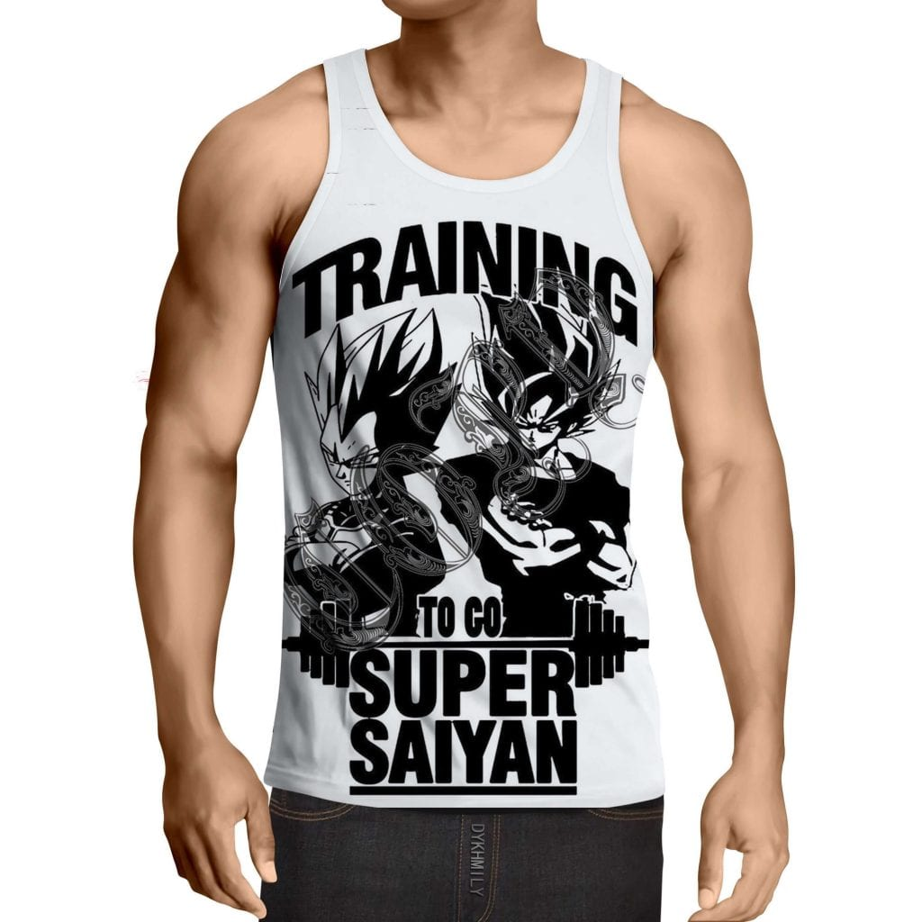 Dragon Ball Goku Vegeta Gym Training Motivation Design Tank Top