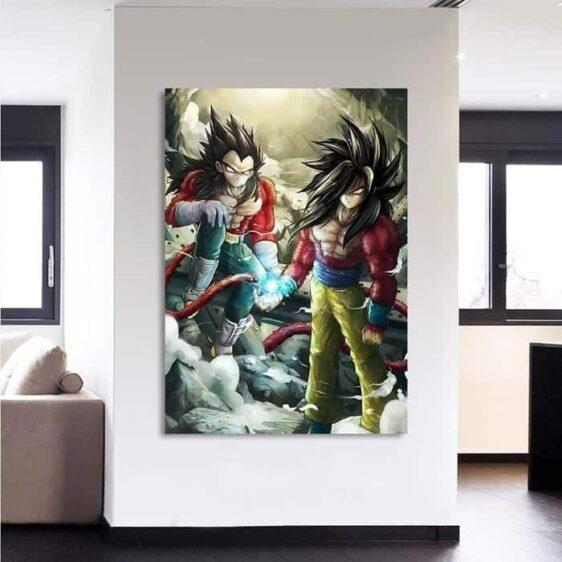 Dragon Ball Son Goku Vegeta SSJ4 Fan Art 1Pc Canvas Print