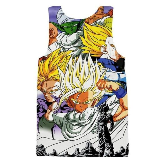 Dragon Ball Trunks Gohan Young Generation Super Saiyan Color Style Tank Top
