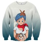 Dragon Ball Z Bulma Cute Adorable Pet Bunnies Rabbit Sweater