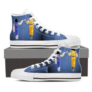 Dragon Ball Z Fist Bump Vegeta & Goku Blue Sneaker Shoes