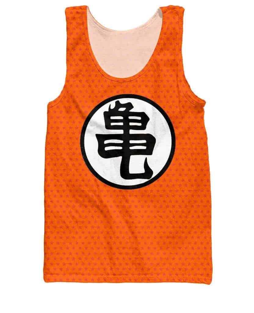 Dragon Ball Z Orange Kame Symbol Goku Master Roshi Tank Top
