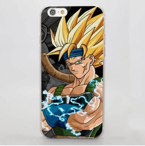 Dragon Ball Bardock Saiyan Goku Father Powerful Warrior iPhone 4 5 6 7 8 Plus X Case