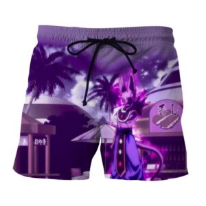 Dragon Ball Super God Of Destruction Lord Beerus Boardshorts
