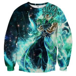 Dragon Ball Super Gogito 2 Blue Super Saiyan Kaioken Cool Sweater