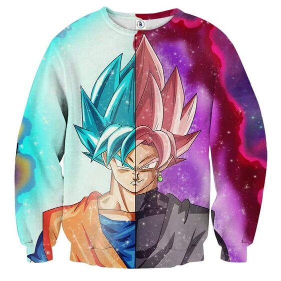 Dragon Ball Super Goku Rose Goku 2 Blue Cool Beach Sweater