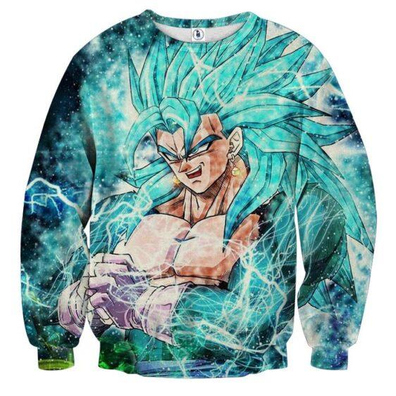 Dragon Ball Vegito 4 Blue Super Saiyan Kaioken Cool Sweater