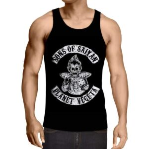 Dragon Ball Z Skeleton Vegeta Scary Saiyan Epic Gym Tank Top