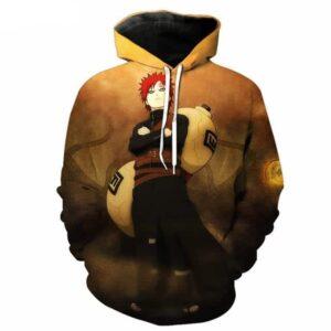 Gaara Kazekage Powerful Great Shinobi Sunagakure Famous Naruto Hoodie