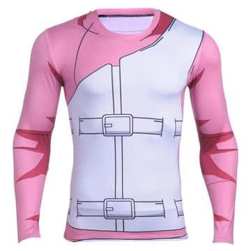 Naruto Gaara Red Costume Workout Long Sleeves Compression 3D Shirt