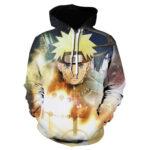 Naruto Anime Uzumaki Sasuke Kyuubi Yellow 3D Hoodie