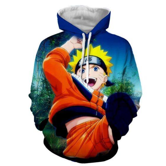 Naruto Kid Japan Anime Fan Art Full Print Amazing Hoodie