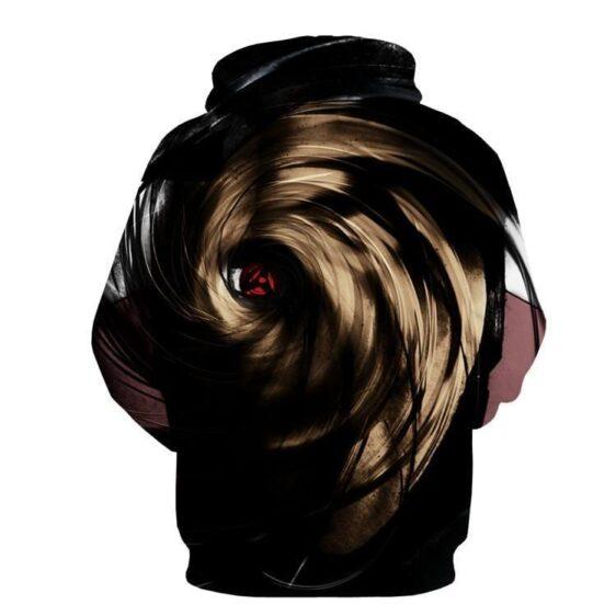 Naruto Madara Obito Mask Sharingan Darkness Power Design Hoodie