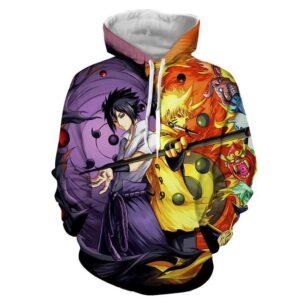 Naruto Sasuke Power Jinchuuriki Sharingan Pattern Hoodie
