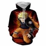 Naruto Uzumaki Japanese Anime Powerful Fan Art Hoodie