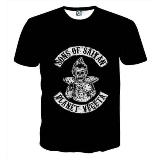 Dragon Ball Z Skeleton Vegeta Scary Super Saiyan Epic T-Shirt
