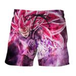 Dragon Ball Black Goku Rose 3 Ultra Instinct Epic Boardshorts