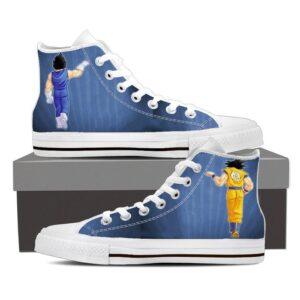 Dragon Ball Z Vegeta & Goku Fist Bump Blue Sneaker Shoes