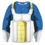 Dragon Ball Z Vegeta Super Saiyan Battle Armor Cosplay Sweatshirt