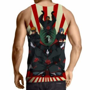 Naruto Japanese Anime Akatsuki Revival Colorful Tank Top