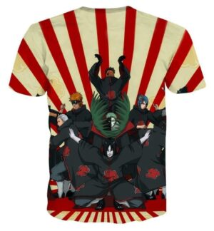 Naruto Japanese Anime Akatsuki Revival Colorful T-shirt