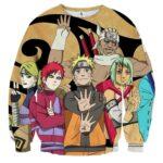 Naruto Jinchuuriki Powerful Ninja Cartoon Sweatshirt