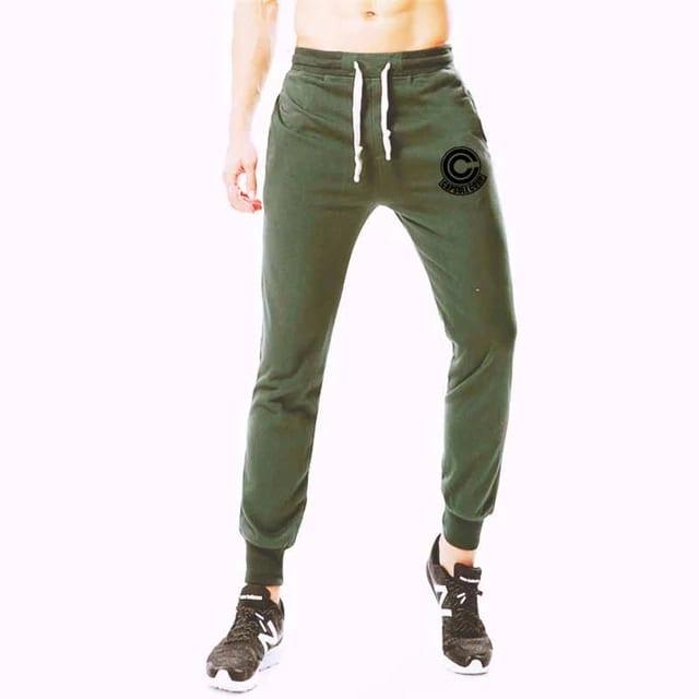 Dragon Ball Z Capsule Corp Green Training Joggers Sweatpants