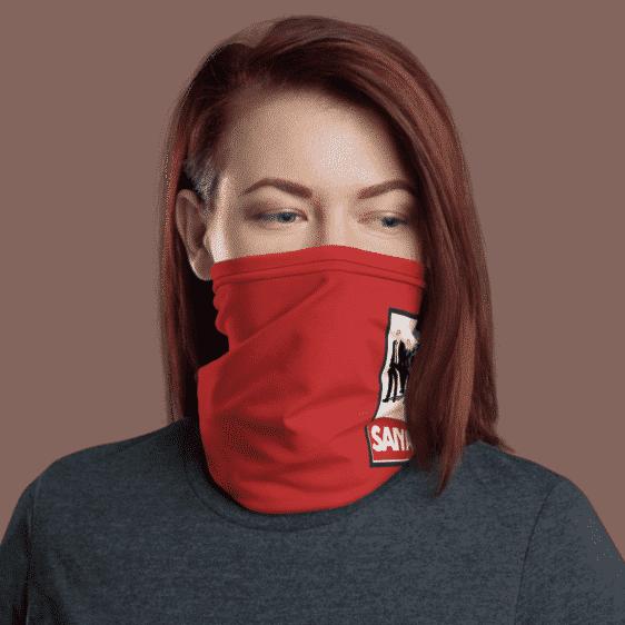 DBZ Badass Team Obey Inspired Red Face Covering Neck Gaiter