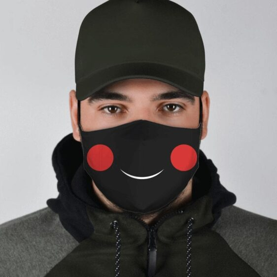 DBZ Chiaotzu Red-Cheeked Little Earthling Smile Face Mask
