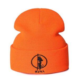 DBZ Embroidered Kid Goku Orange Casual Streetwear Beanie