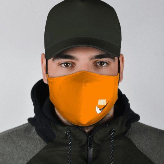 DBZ Flying Nimbus Art Nike Inspired Orange Face Mask