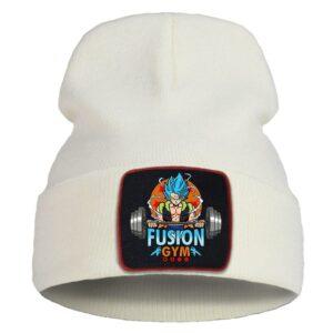DBZ Gogeta Fusion Gym Design Beige Casual Warm Beanie