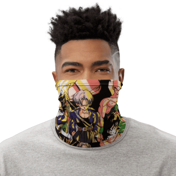DBZ Goku Classic Team Against Evil Face Covering Neck Gaiter