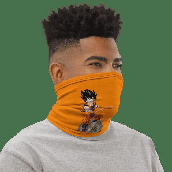 DBZ Goku Riding Weed Nug Orange Face Covering Neck Gaiter