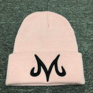 DBZ Majin Buu Embroidered Logo Pink Knit Winter Beanie