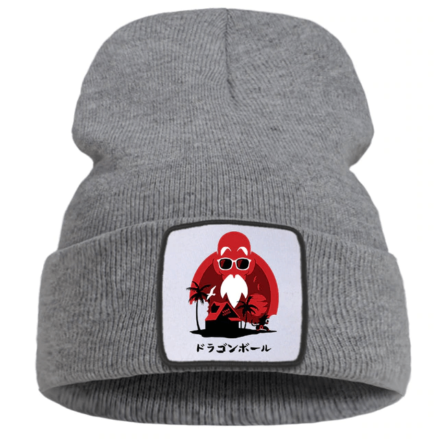 DBZ Master Roshi Turtle Island House Gray Knitted Beanie