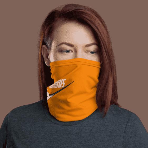 DBZ Nimbus Art Nike Inspired Orange Face Covering Neck Gaiter