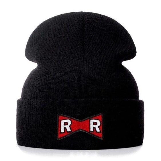 DBZ Red Ribbon Army Logo Black Casual Streetwear Beanie