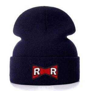 DBZ Red Ribbon Army Logo Dark Blue Winter Knit Beanie