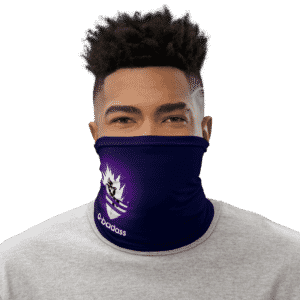 DBZ Vegeta Adidas Style Navy Blue Face Covering Neck Gaiter