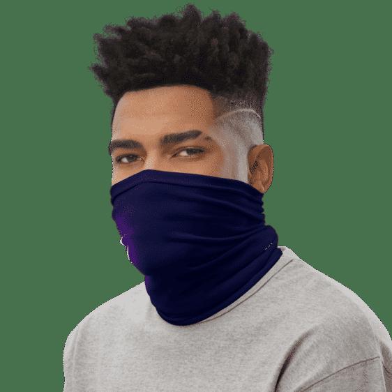 DBZ Vegeta Adidas Style Navy Blue Face Covering Neck Gaiter
