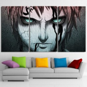 Deadly Look Gaara Kazekage Amazing Power Damage 3pcs Wall Art