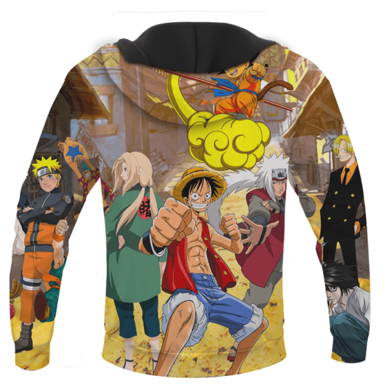 Death Note Naruto One Piece Dragonball Anime Characters Cool Hoodie - back