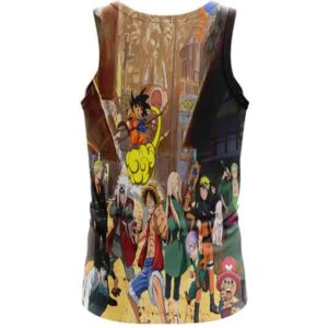 Death Note Naruto One Piece Dragonball Anime Characters Cool Tank Top
