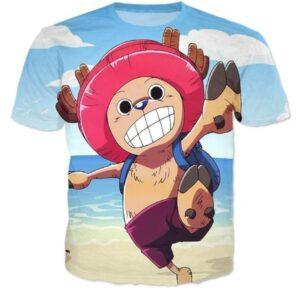 Doctor Tony Tony Chopper One Piece Holidays Beach 3D T-shirt