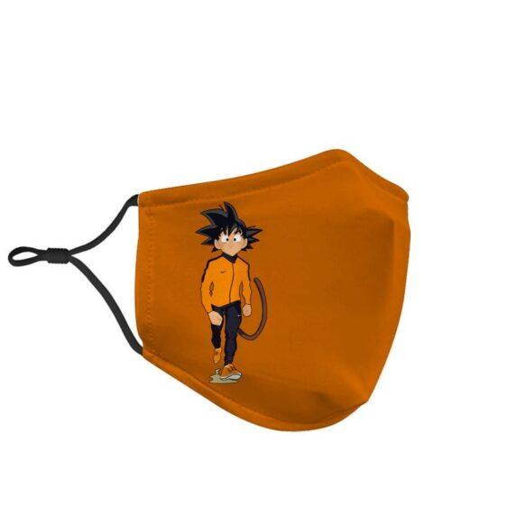 Dragon Ball Z Awesome Kid Goku Nike Inspired Orange Face Mask