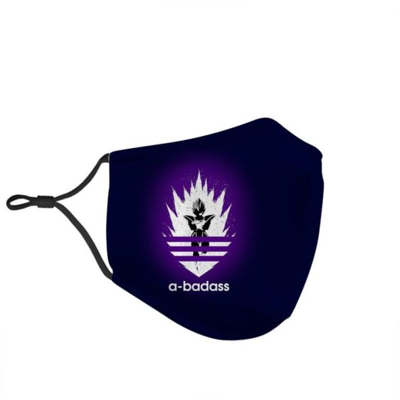 Dragon Ball Z Badass Vegeta Adidas Style Navy Blue Face Mask