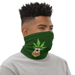 Dragon Ball Z Broly Weed Green Face Covering Neck Gaiter