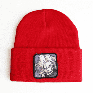 Dragon Ball Z Cool Android 18 Red Casual Streetwear Beanie