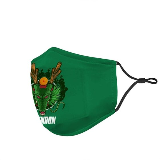 Dragon Ball Z Cool Divine Shenron Art Green Face Mask